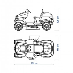 Cortador de Grama Dirigível Trotter Motor Briggs 16,5 hp