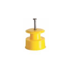 Isolador Roldana Amarelo 100 unidades